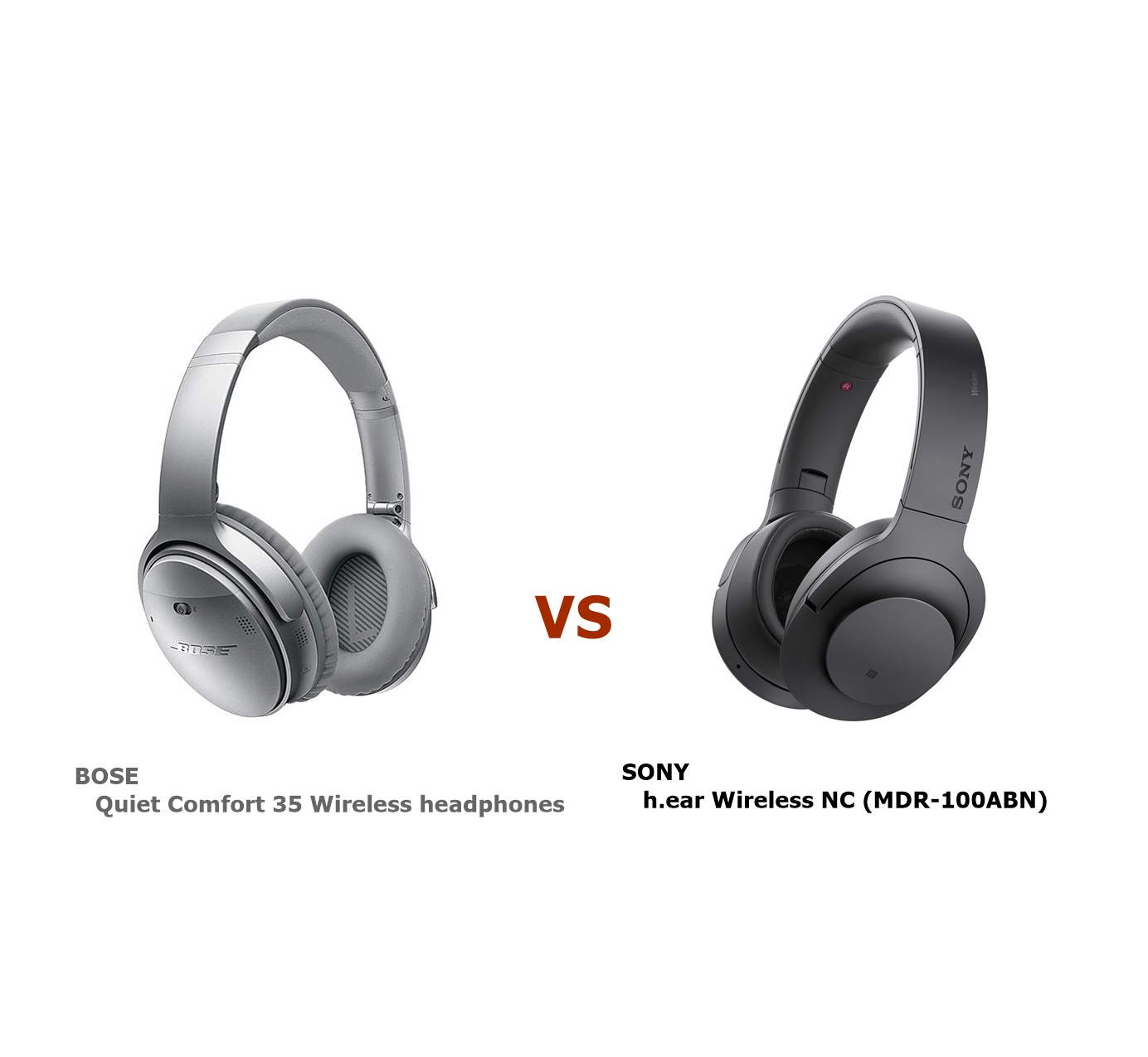Quiet Comfort 35 Wireless headphones と h.ear on Wireless NC(MDR-100ABN) どっちを買えば良い?