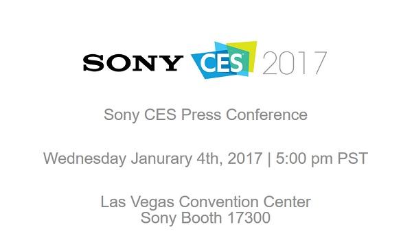 SONYが1月4日にCES 2017プレスカンファレスを開催