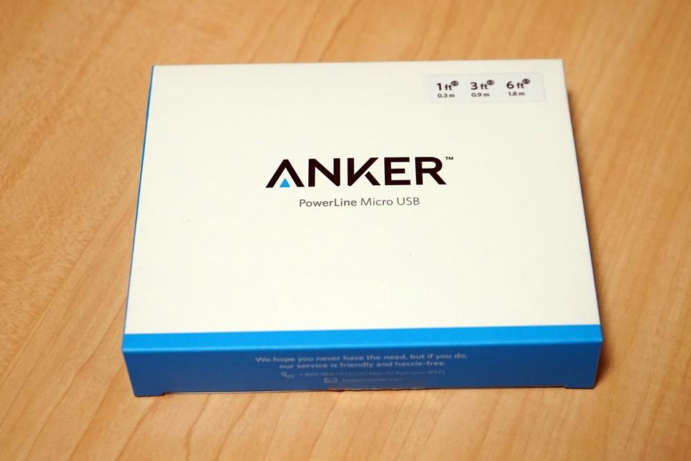 【レビュー】Anker PowerLine Micro USBケーブル 6本セットを買ってみた