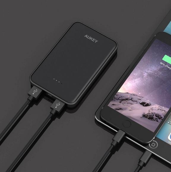 AUKEY 薄型モバイルバッテリー10000mAhが1,999円→1,499円で購入可能に!