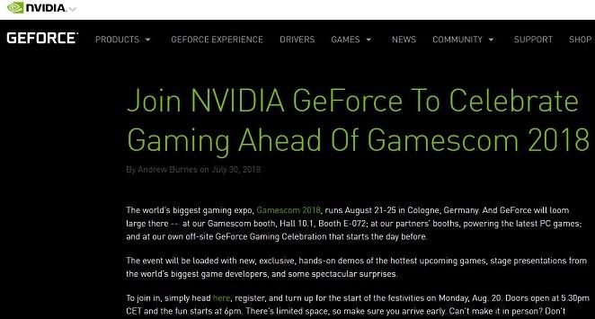 NVIDIAが8月20日に「驚異的なサプライズ」を発表へ。GTX1100シリーズを発表か